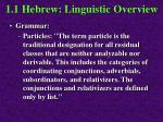 1 1 hebrew linguistic overview38