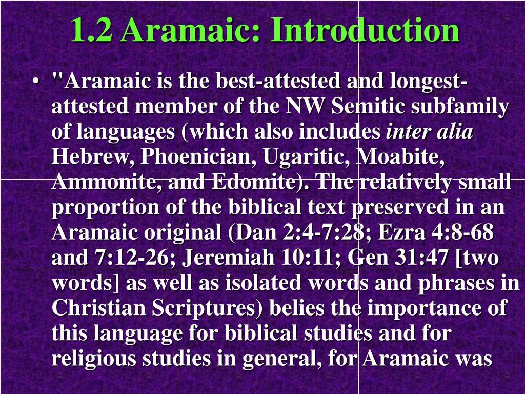 1.2 Aramaic: Introduction