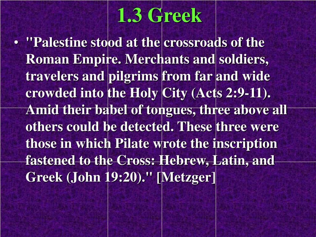 1.3 Greek