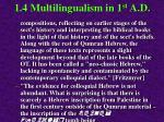 1 4 multilingualism in 1 st a d111