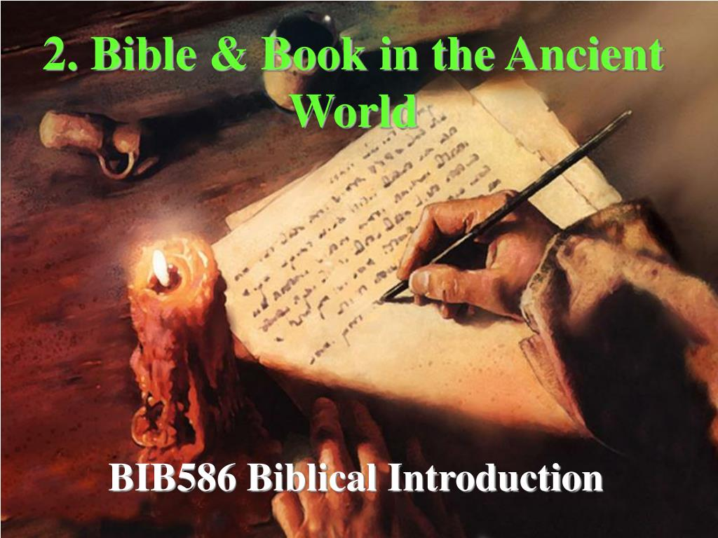 2 bible book in the ancient world l.