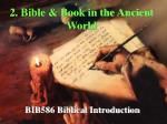2 bible book in the ancient world