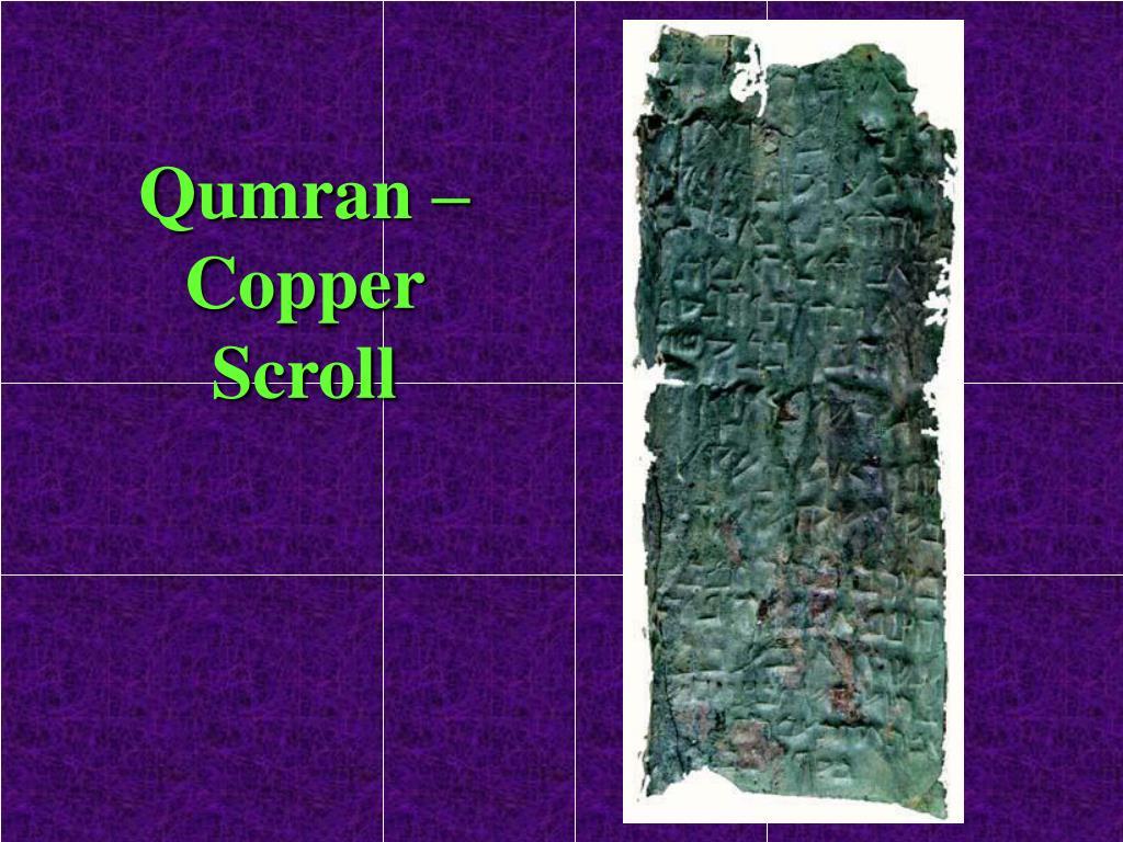 Qumran – Copper Scroll