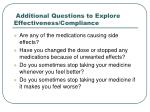 additional questions to explore effectiveness compliance