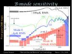 b mode sensitivity