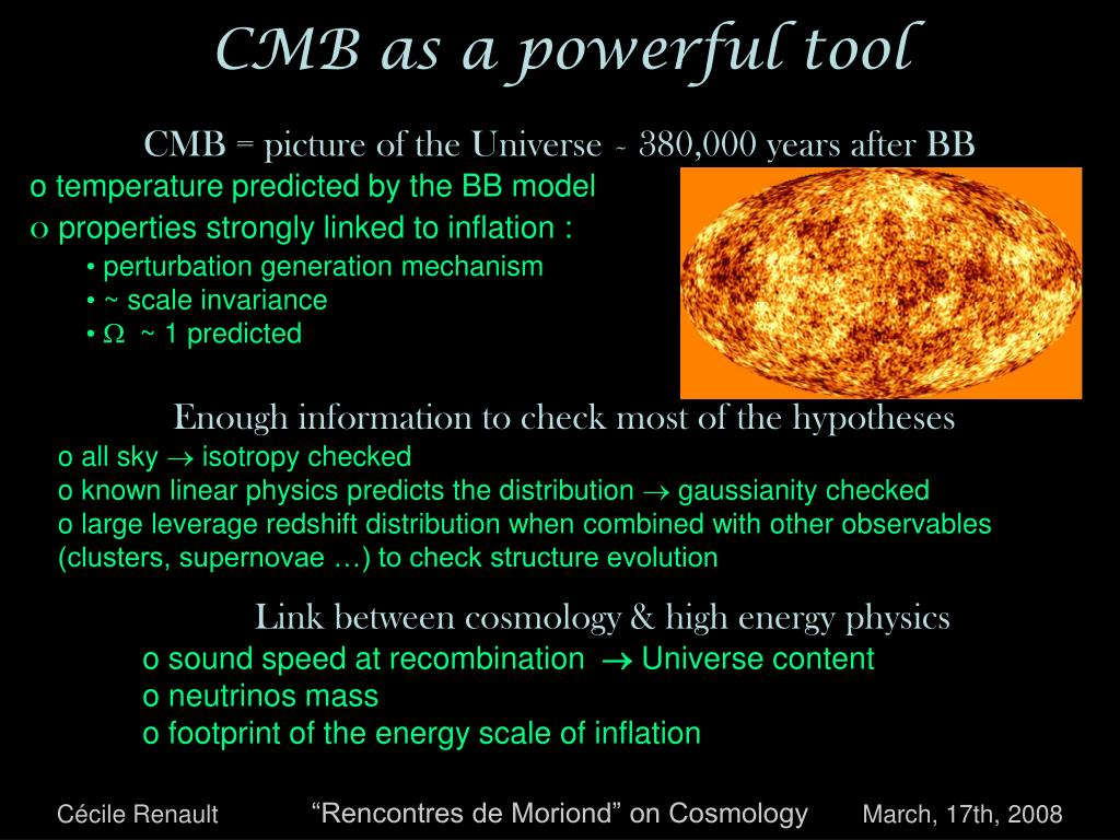 CMB as a powerful tool
