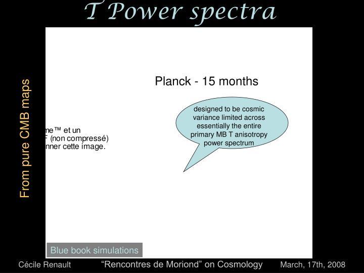 T power spectra