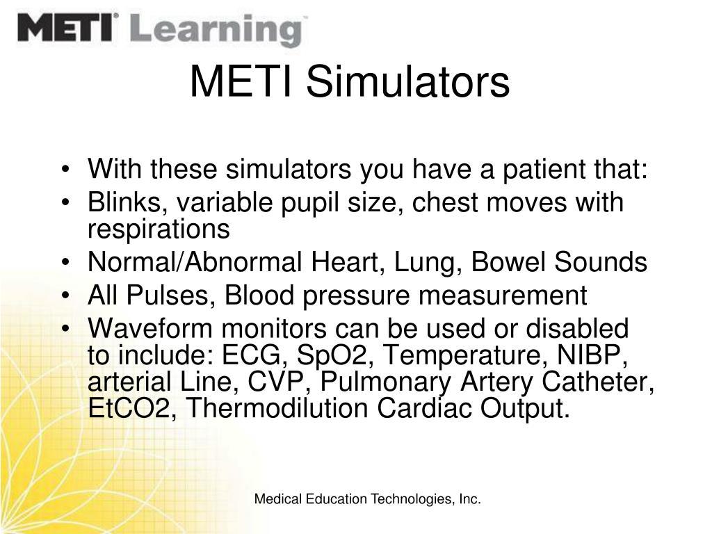 METI Simulators
