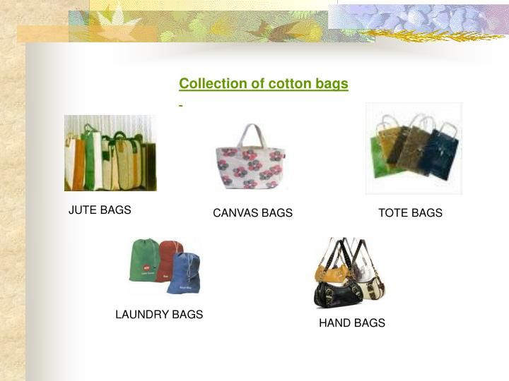 Collection of cotton bags