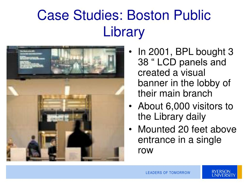 Case Studies: Boston Public Library
