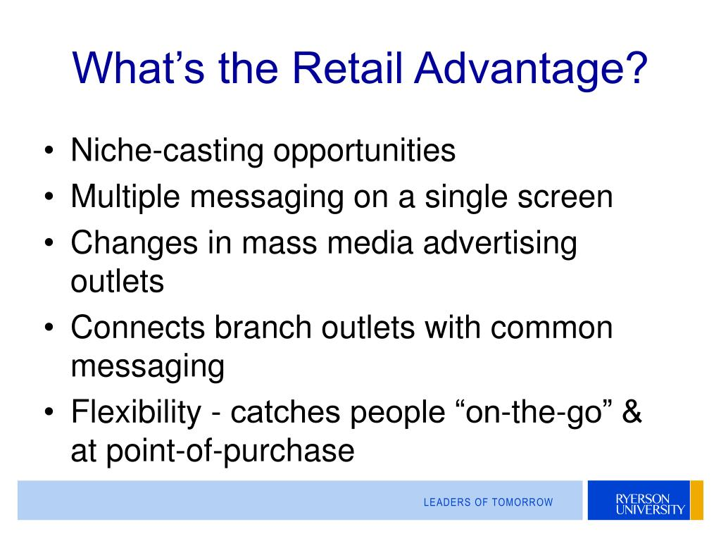 What's the Retail Advantage?