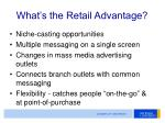 what s the retail advantage7