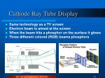 cathode ray tube display