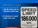 how fast is light
