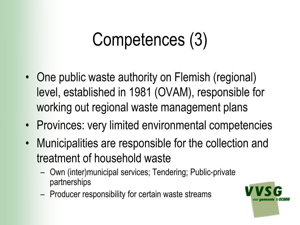 Competences (3)