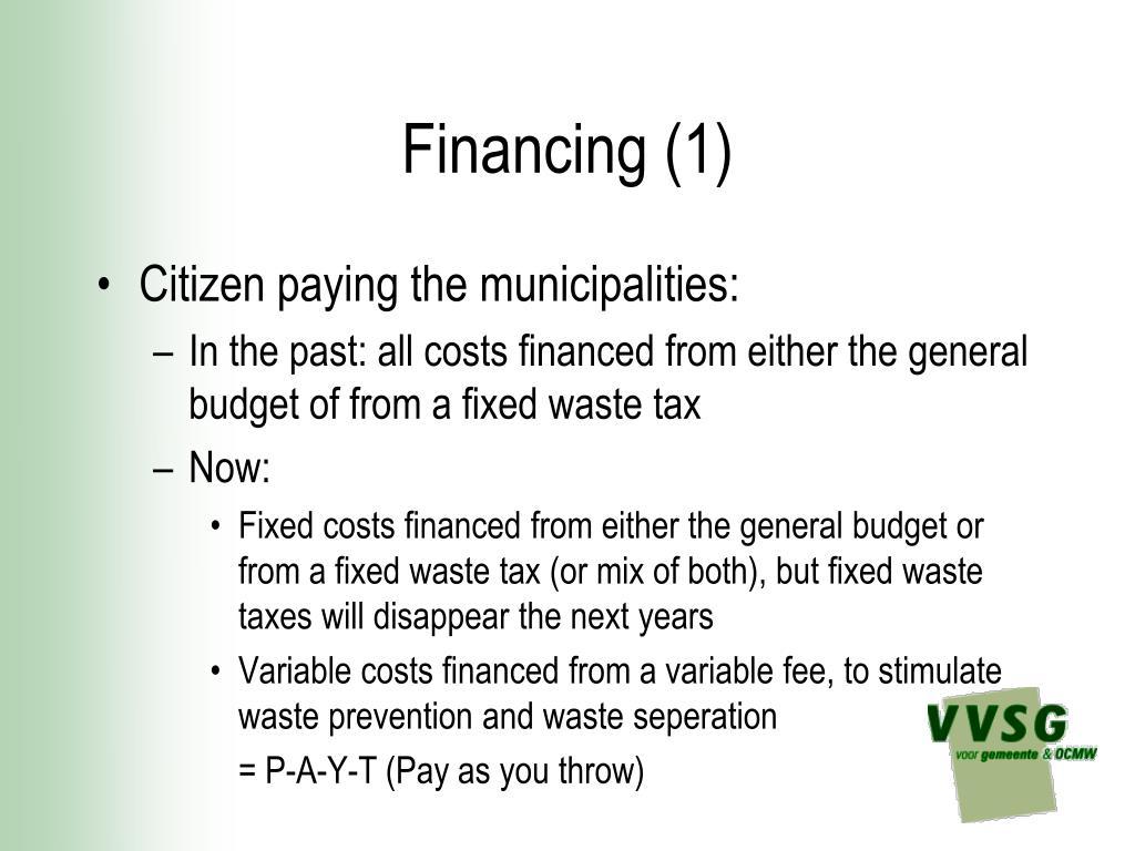 Financing (1)