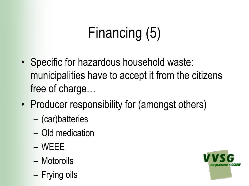 Financing (5)