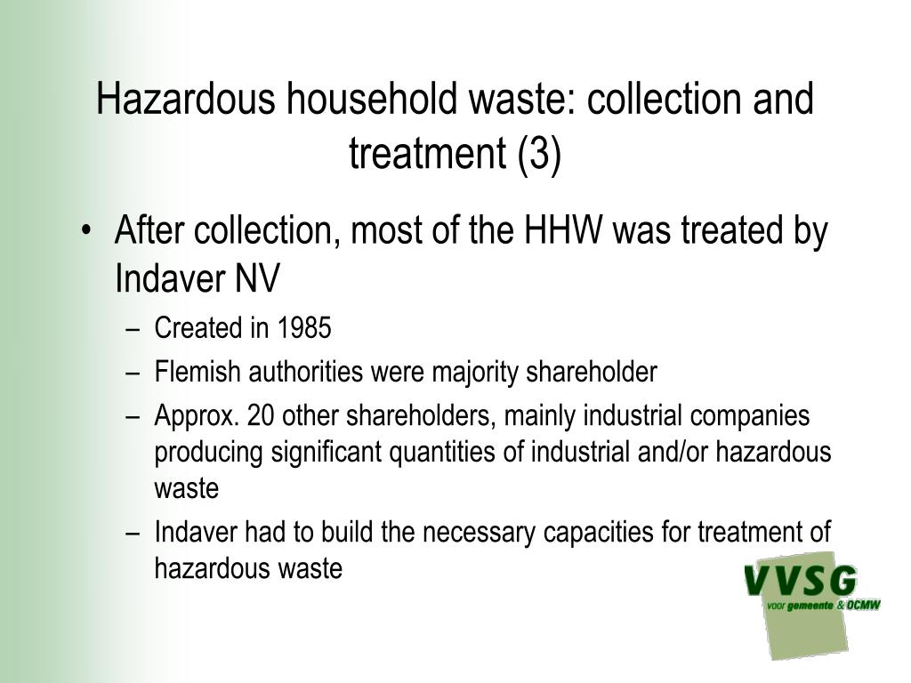 Hazardous household waste: collection and treatment (3)