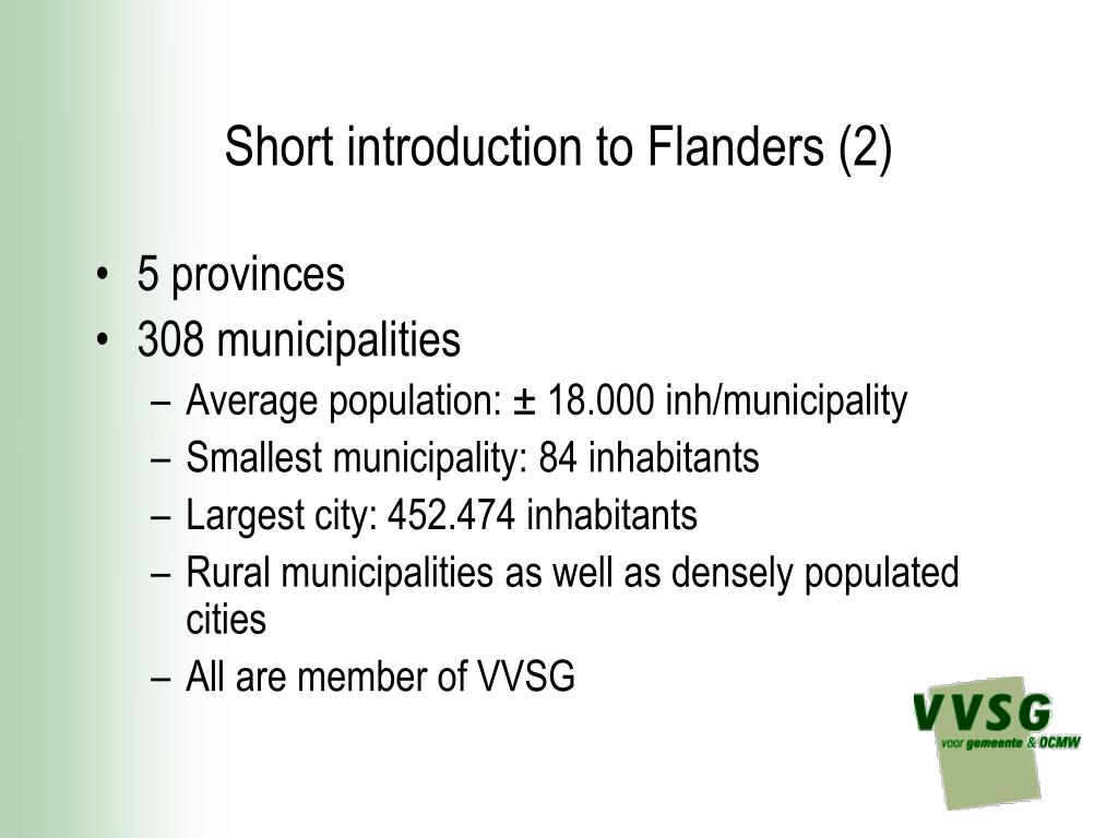 Short introduction to Flanders (2)