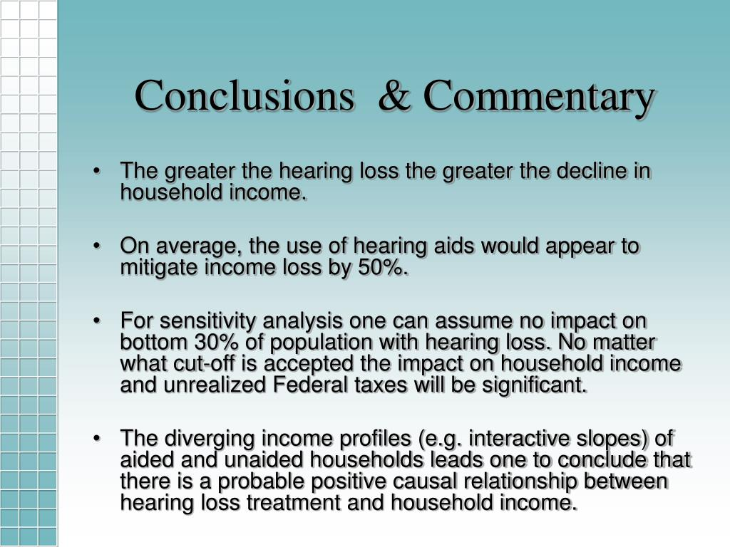 Conclusions  & Commentary