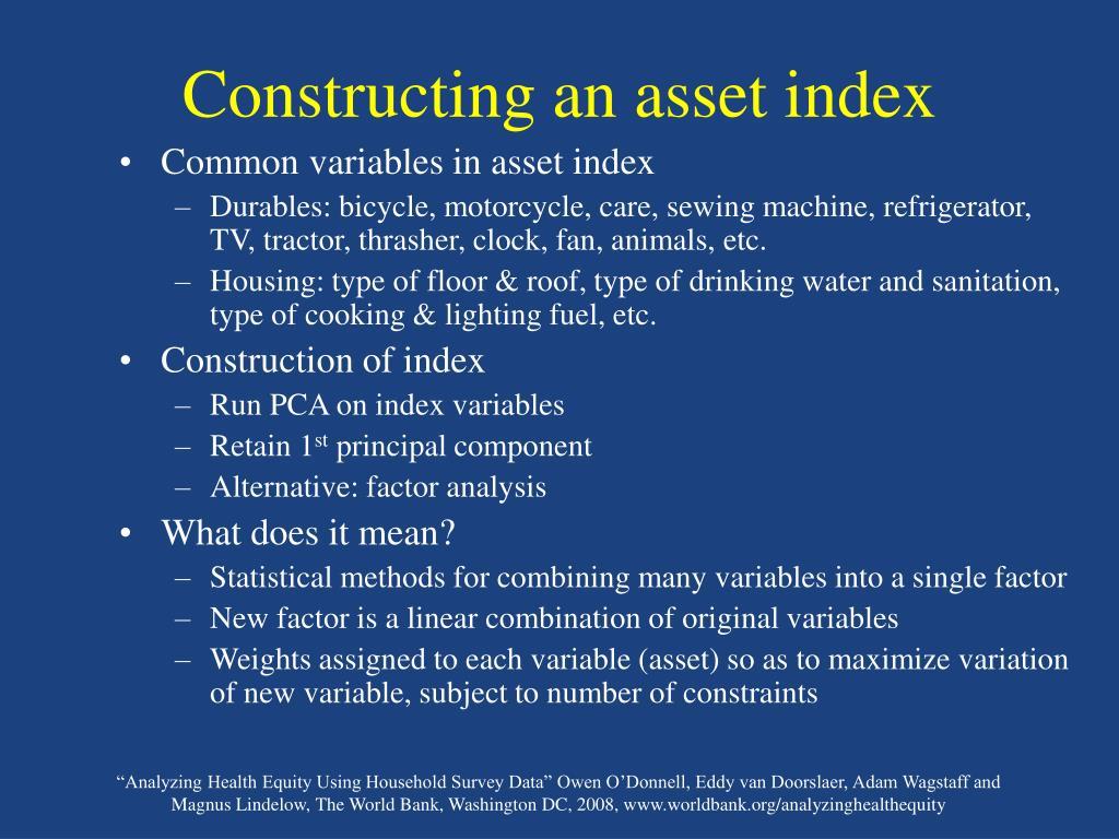 Constructing an asset index