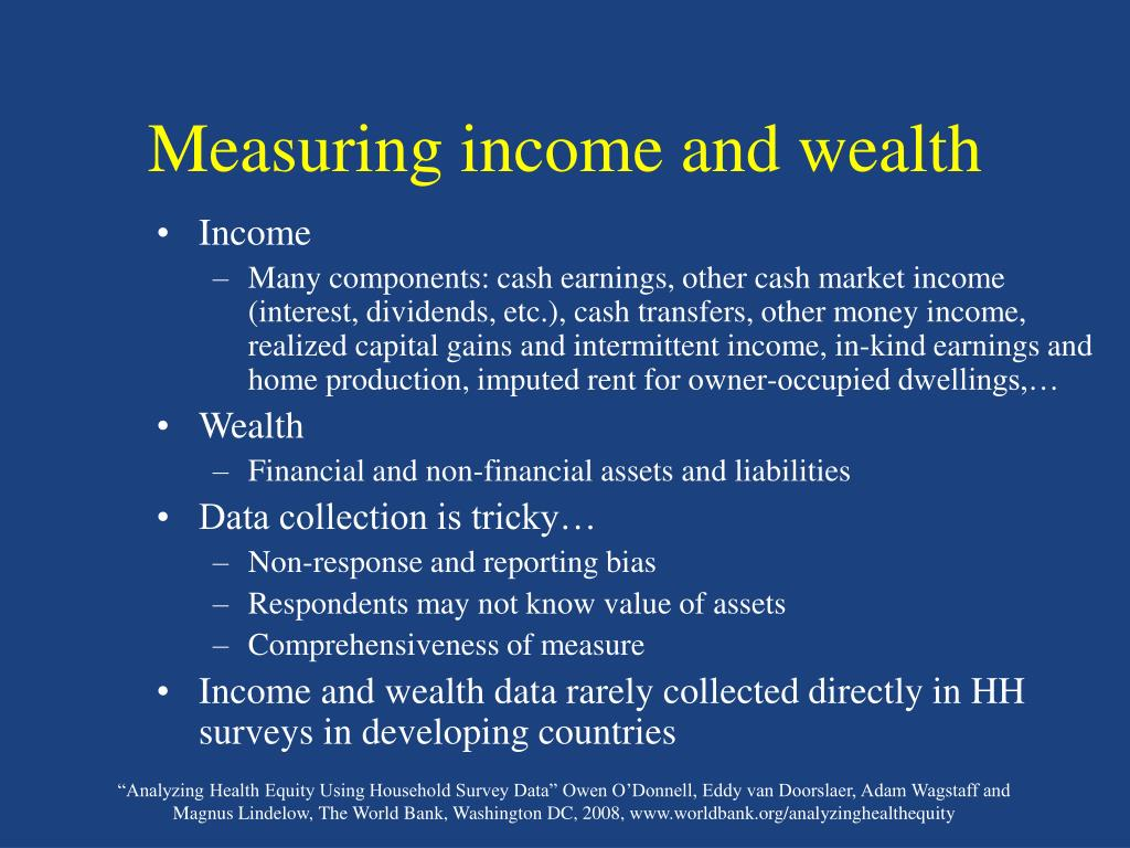 Measuring income and wealth
