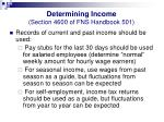 determining income section 4600 of fns handbook 50130
