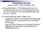 household concept section 3400 of fns handbook 50110