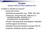 income section 4500 of fns handbook 50125