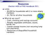 resources section 4400 of fns handbook 501