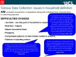 census data collection issues in household definition8