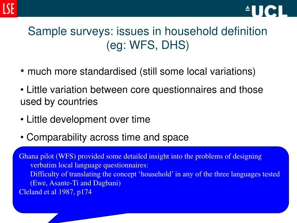 Sample surveys: