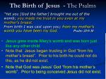 the birth of jesus the psalms
