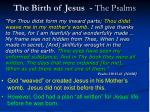 the birth of jesus the psalms16