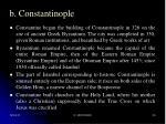 b constantinople