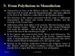 b from polytheism to monotheism11