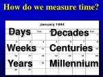 how do we measure time4