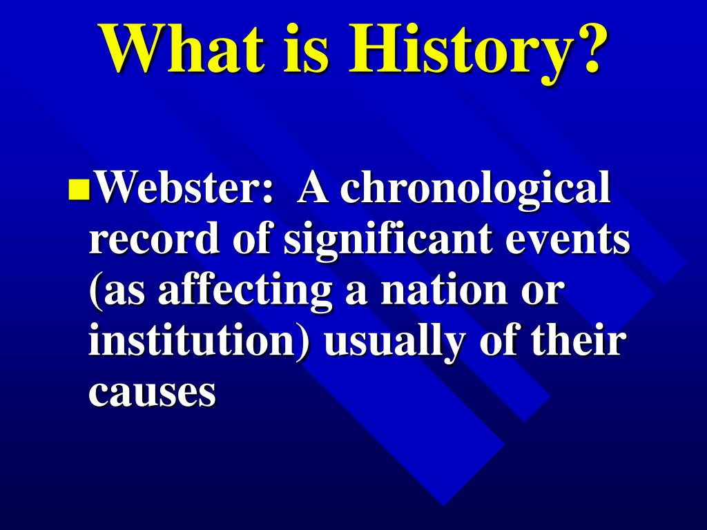 what is history l.
