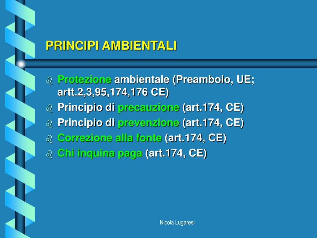 PPT - DIRITTO COMUNITARIO DELL'AMBIENTE PowerPoint ...