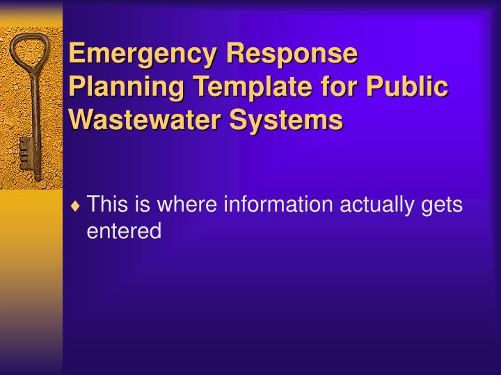 Emergency Response Planning Template For Public Wastewater Systems