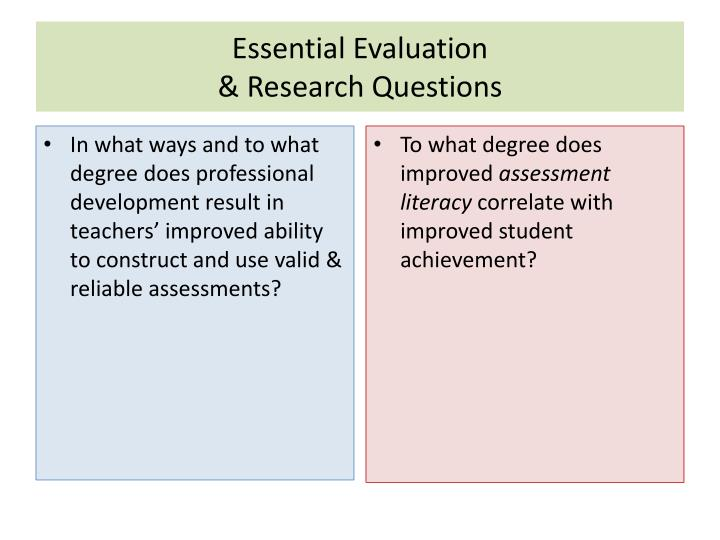 Essential Evaluation