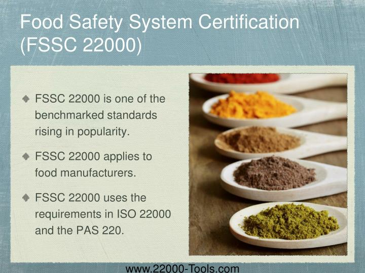 Food Safety System Certification (FSSC 22000)