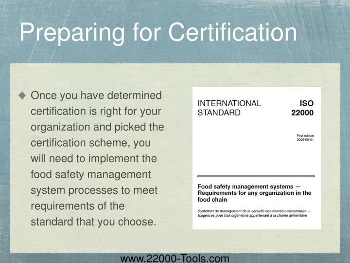 Preparing for Certification