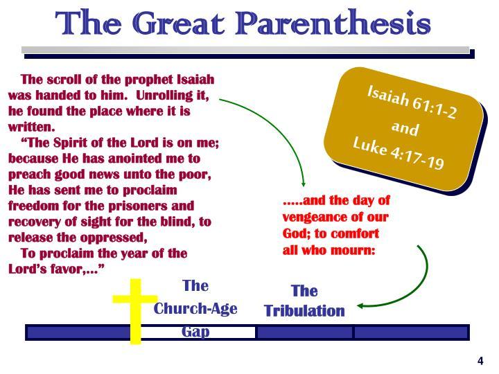 The Great Parenthesis
