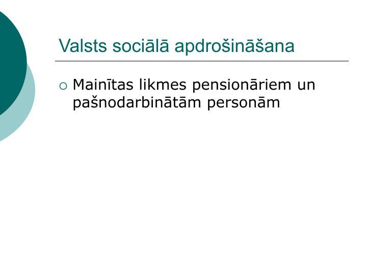 Valsts sociālā apdrošināšana