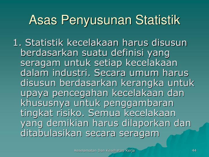 Asas Penyusunan Statistik
