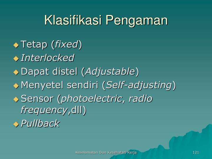 Klasifikasi Pengaman