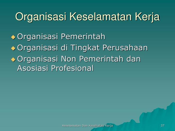 Organisasi Keselamatan Kerja