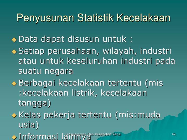 Penyusunan Statistik Kecelakaan