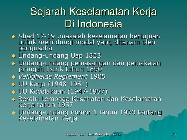 Sejarah Keselamatan Kerja